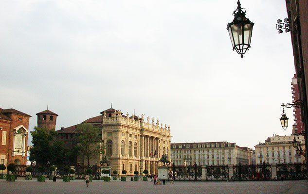 Piazza Castello, il centro della città di Torino
