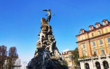 Piazza Statuto, Torino Magica e il monumento del Traforo del Frejus