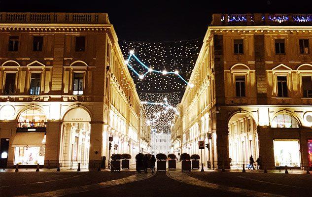 Natale a Torino 2018: via Roma sarà illuminata da nuove luci