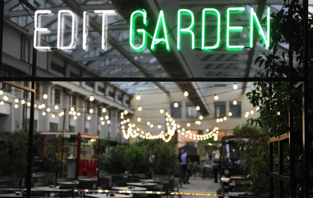 Edit Garden: aperitivi, drink e musica all'aperto nel dehors di Edit