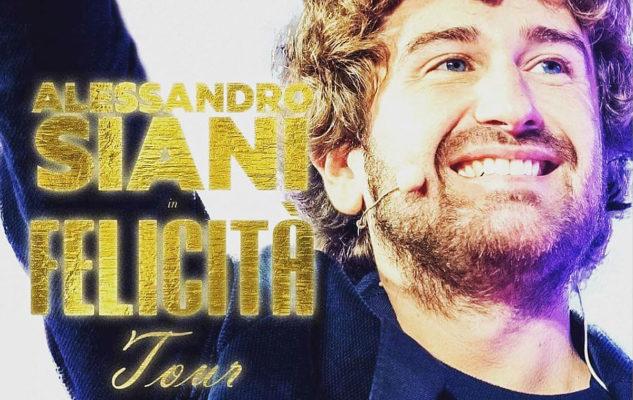 """Alessandro Siani a Torino nel 2020 con il """"Felicità Tour"""""""