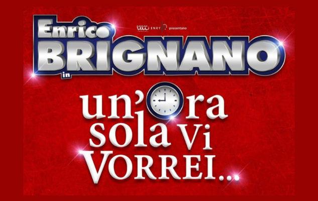 """Enrico Brignano a Torino nel 2020 con """"Un'ora sola vi vorrei"""": date e biglietti"""