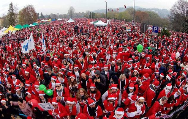 Il Raduno dei Babbi Natale 2019 a Torino: il grande evento per i bimbi del Regina Margherita