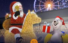 Christmas Park 2019: sculture di luci natalizie, ruota panoramica e pista gommoni su ghiaccio