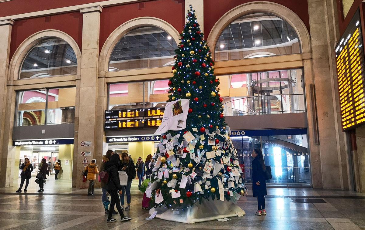 Albero Di Natale A Torino.L Albero Di Natale Di Porta Nuova Che Custodisce I Sogni E Le Speranze Dei Torinesi