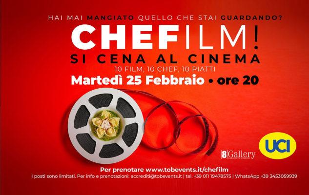 """""""CheFilm si cena al cinema"""": 10 film, 10 chef e 10 piatti per la prima cena al Cinema a Torino"""