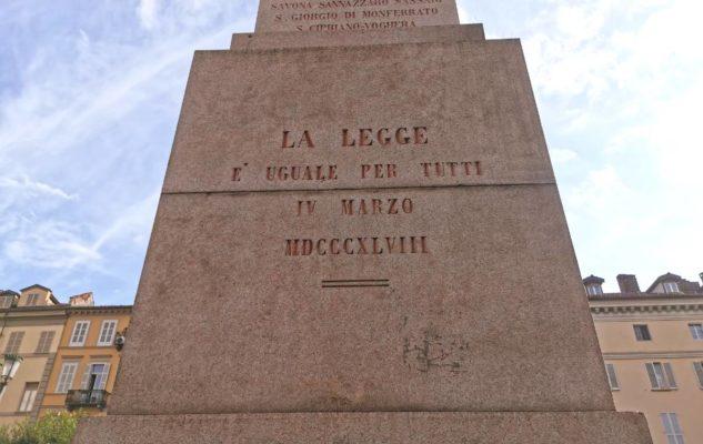 Obelisco Torino incisione