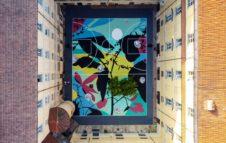 Blooming Playground: a Torino il campo da basket diventa un'opera di Street Art