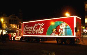 Il Camion della Coca Cola arriva a Torino per una tappa del tour di Natale