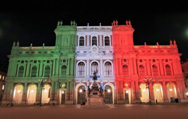 Il Museo del Risorgimento di Torino si illumina con il Tricolore per i 160 anni dell'Unità d'Italia
