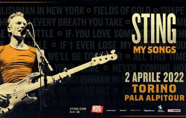 Sting a Torino nel 2022: data e biglietti del concerto al Pala Alpitour